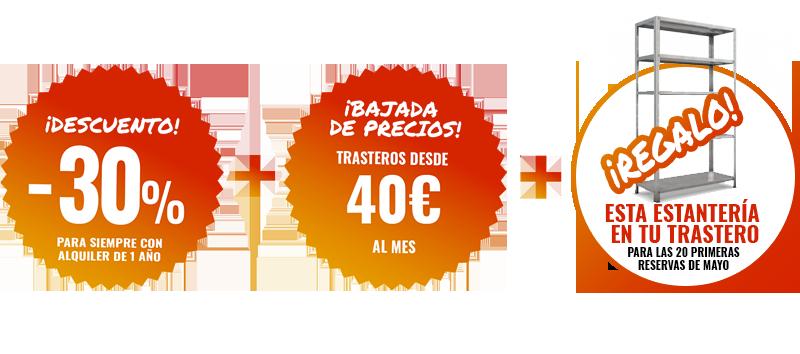 Oferta especial alquiler de trastero en Ciudad Lineal Mayo de 2019